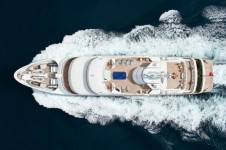 Superyacht Reborn - Running Shot from above